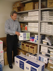 on site printer cartridge and toner inventory
